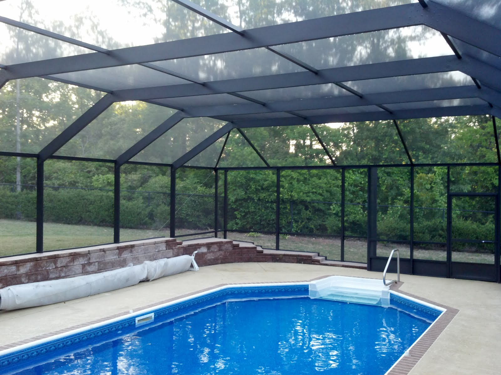 Pool enclosures usa pool enclosures in north georgia - Swimming pool screen enclosures cost ...