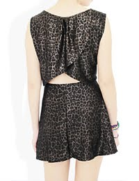 LEOPARD CUTOUT DRESS