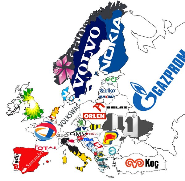 The largest company based in each European country