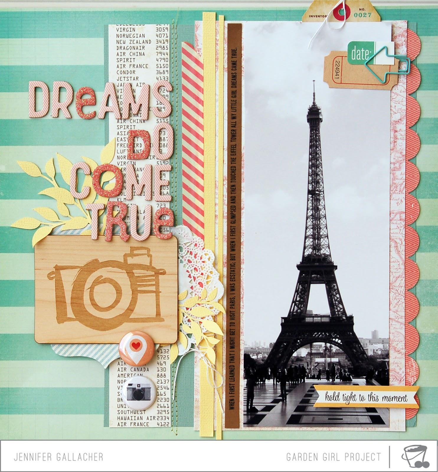 Scrapbook paper canada - Make It Meaningful 7 Scrapbook Process Video Dreams Do Come True