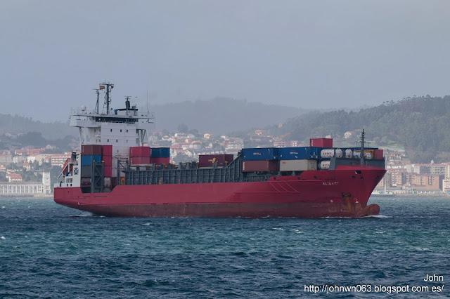 alida, fotos de barcos, container ship, vigo