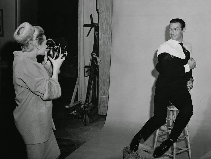 """Tippi Hedren y Sean Connery en """"Marnie, la ladrona"""" (1964)"""