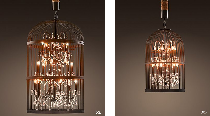 Epic Amazing Birdcage Chandelier by Restoration Hardware