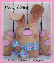 "Hoppy Spring - 15 1/2"" bunny & 7"" eggs"
