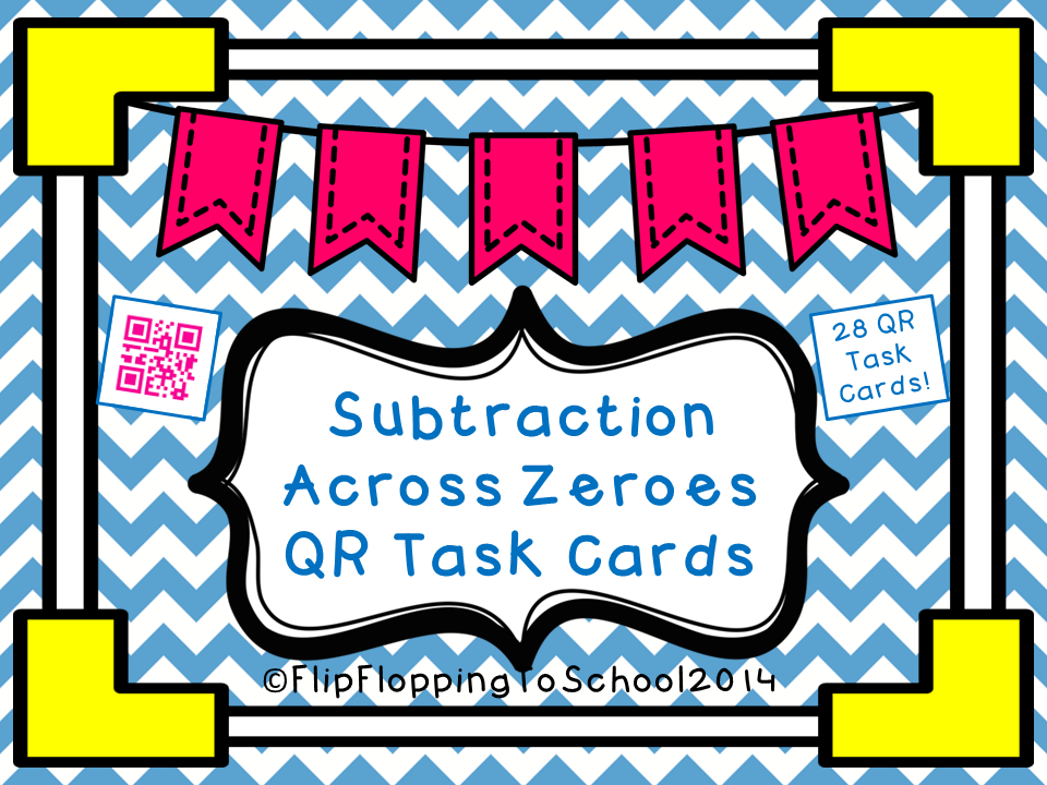 http://www.teacherspayteachers.com/Product/Subtraction-Across-Zereos-QR-Math-Task-Cards-1371586