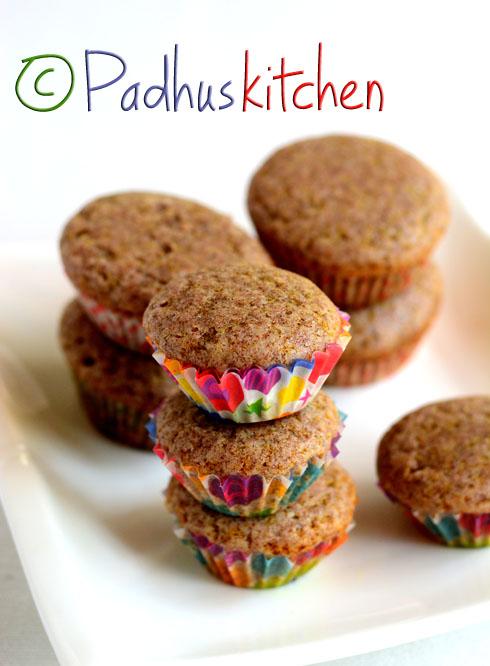 Eggless Multigrain Cupcake-Ragi Cupcakes