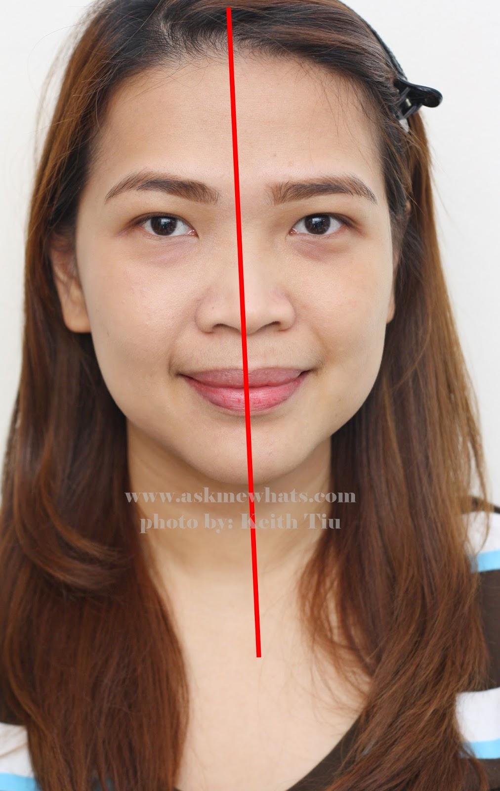 before and after using L'Oreal Paris Lucent Magique BB Skin Luminizing BB Cream SPF19