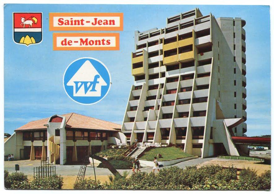 Architectures de cartes postales 1 jean marty dans le sable for Garage automobile saint jean de monts