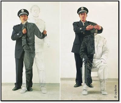 photo Camouflage artiste chinois Liu Bolin expo galerie Paris-beijing