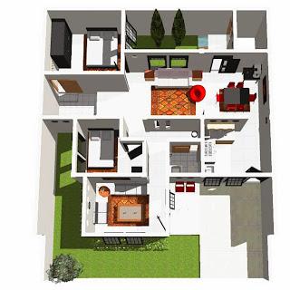 contoh rancangan rumah minimalis kumpulan gambar desain