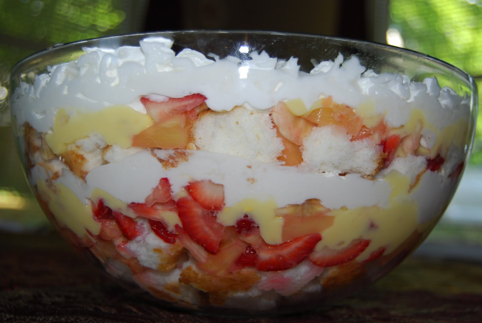 ... Cake or Strawberry and Pineapple Trifle. I always bring the bowl home