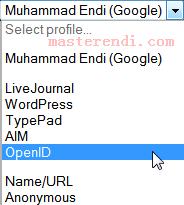 Cara menggunakan OpenID diblogspot