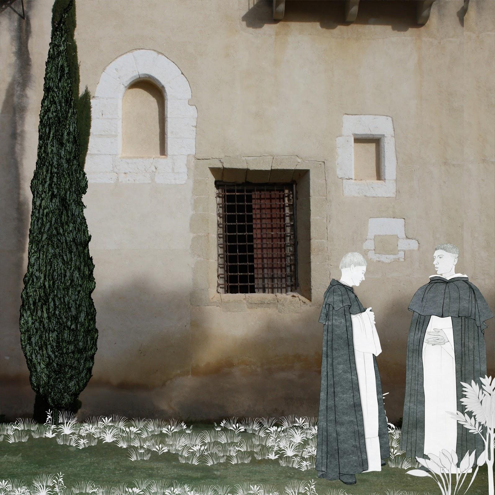Dominicos, monasterio, dibujo, foto