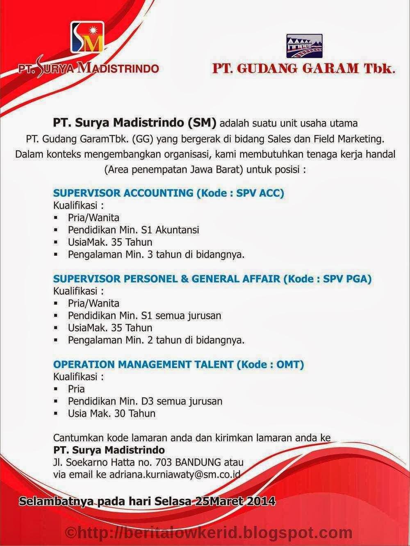 PT Surya Madistrindo Info Lowongan Kerja Terbaru Bandung ...