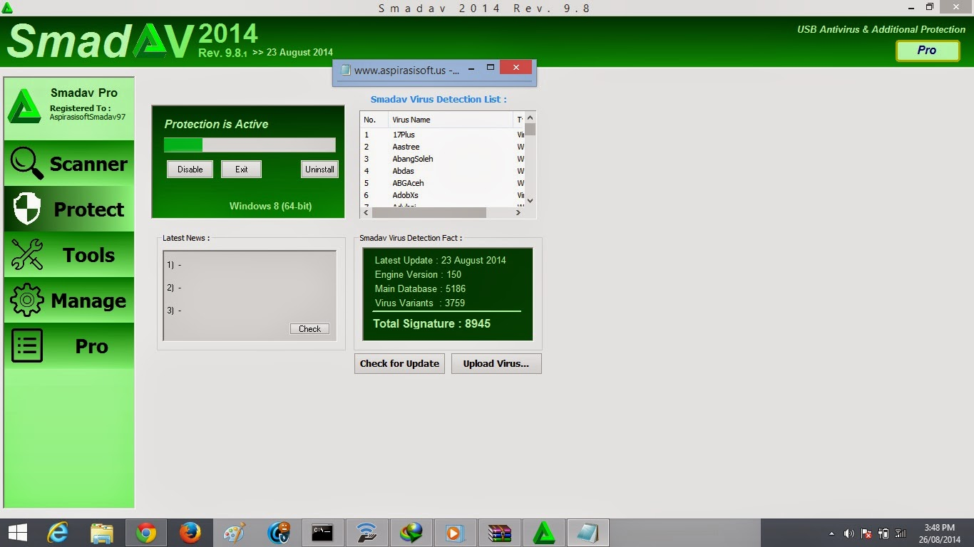 Smadav 2014 Rev. 9.8 Pro Full Serial Number - RGhost