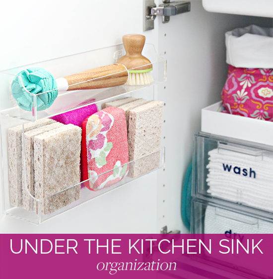 good Kitchen Sink Organization Ideas #7: Although our kitchen was far from finished, we needed to reclaim our guest  room a few months back. All of our kitchen belongings that were temporarily  being ...