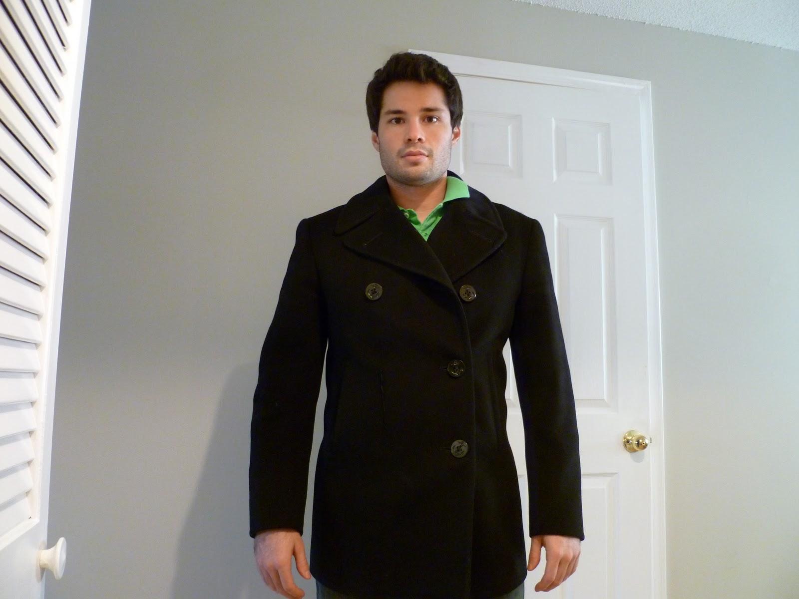 authentic navy pea coat