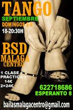 SOLO TANGO SEPTIEMBRE, DOMINGOS 2 Y 9  EN BSD BAILAS MÁLAGA CENTRO.