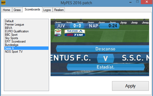 MyPES V0.3 Patch / PES2016 | PesFreeDownloads