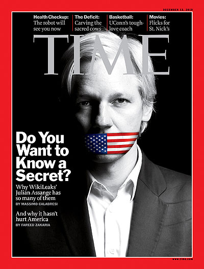 Julian Assange on Time Magazine