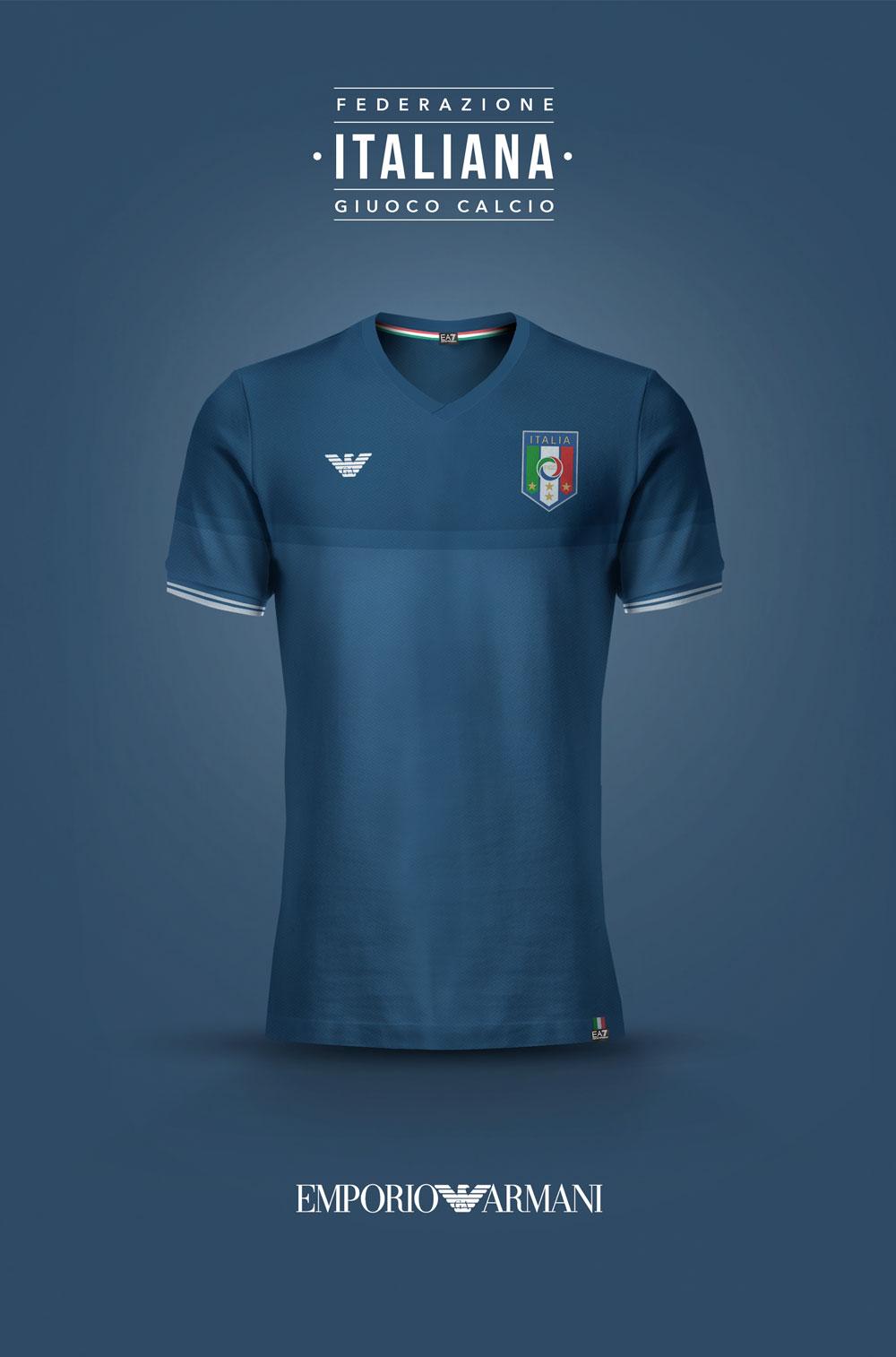Fashion x national team kits by emilio sansolini footy for Italian kit