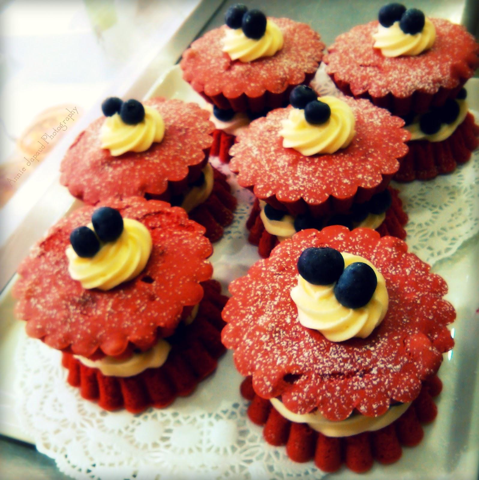 red velvet cakes from the White Gables restaurant, Moycullen, Ireland