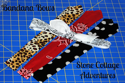 Bandana Bows Tutorial, shared by Stone Cottage Adventures