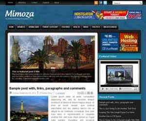 Mimoza Blogger Template
