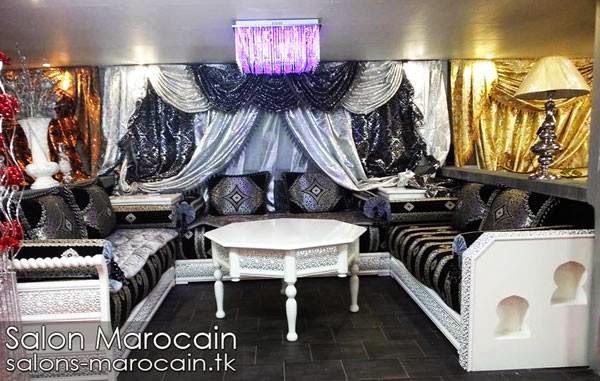 D coration salon marocain moderne 2015 for Salon marocain blanc