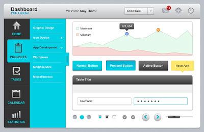 Dashboard UI Elements (PSD)