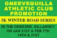 Killarney 5k Series...Sat 31st Jan to 22nd Feb 2015