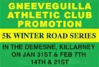 Killarney 5k Series...Sat 31st Jan to 22nd Feb 2015