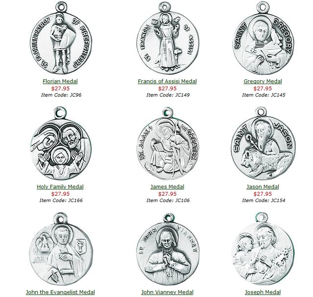 These sterling silver medals are popular for all gift giving occasions