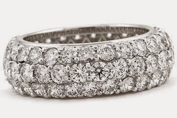 Platinum Micro-Pave Set Diamond Eternity Band