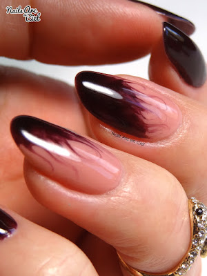 Nail art - Effet flammes en vernis semi-permanent par Nails Arc en Ciel