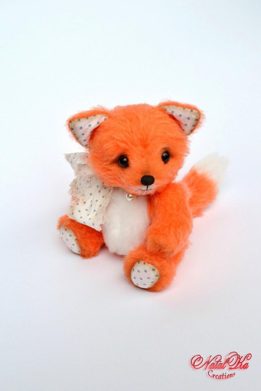Künstler Teddy Fuchs handgemacht von NatalKa Creations. Artist teddy fox handmade by NatalKa Creations
