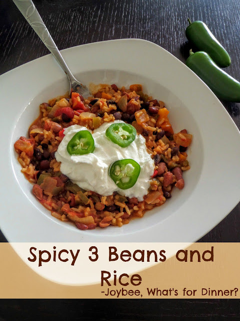 Spicy 3 Beans And Rice Joybee What S For Dinner