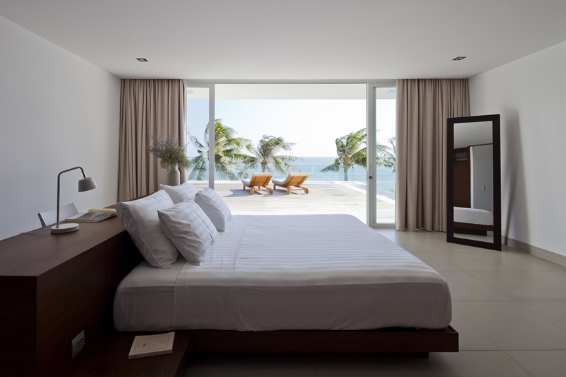 Modern bedroom in modern beach house