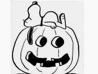 Coloring pages snoopy coloring pages free and printable for Charlie brown pumpkin template