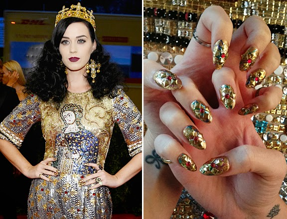 Unhas decoradas nailart Katy Perry