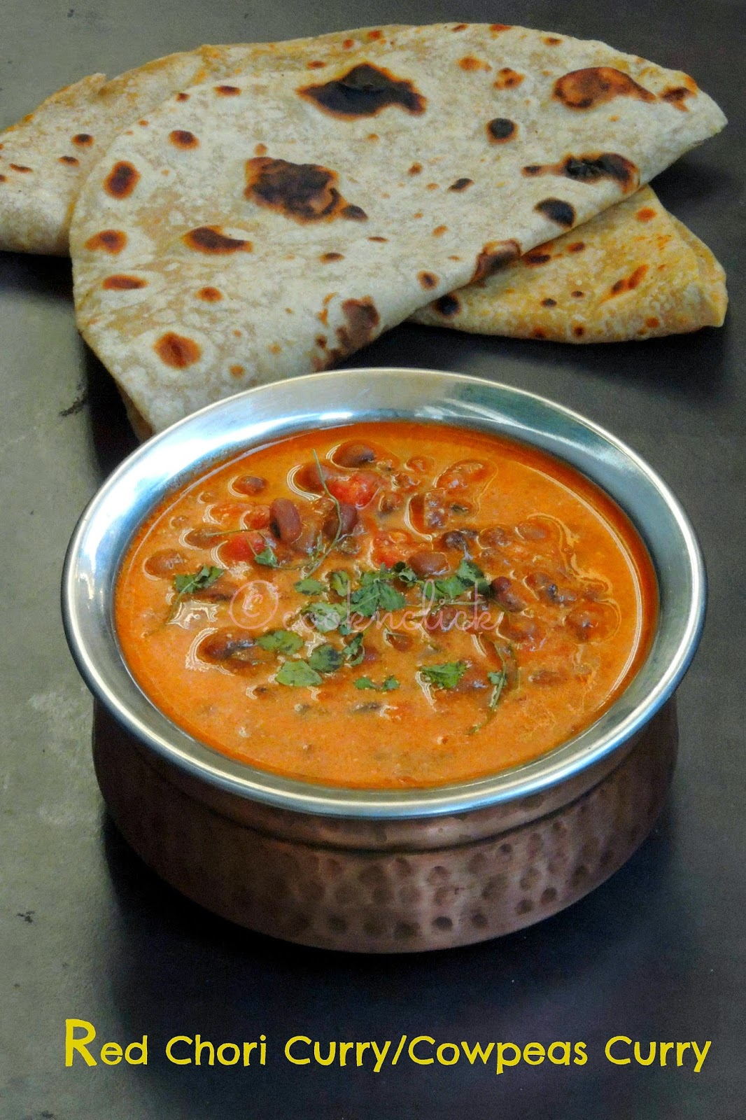 Red chori curry, cowpeas curry without Onion and garlic