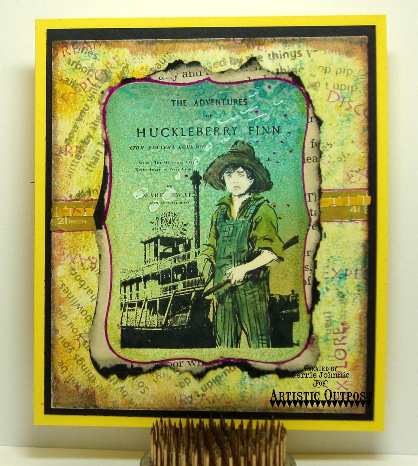 Stamps - Artistic Outpost Huck Finn