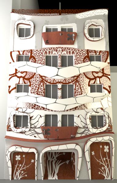 muestra la fachada Art noveau en Alciante