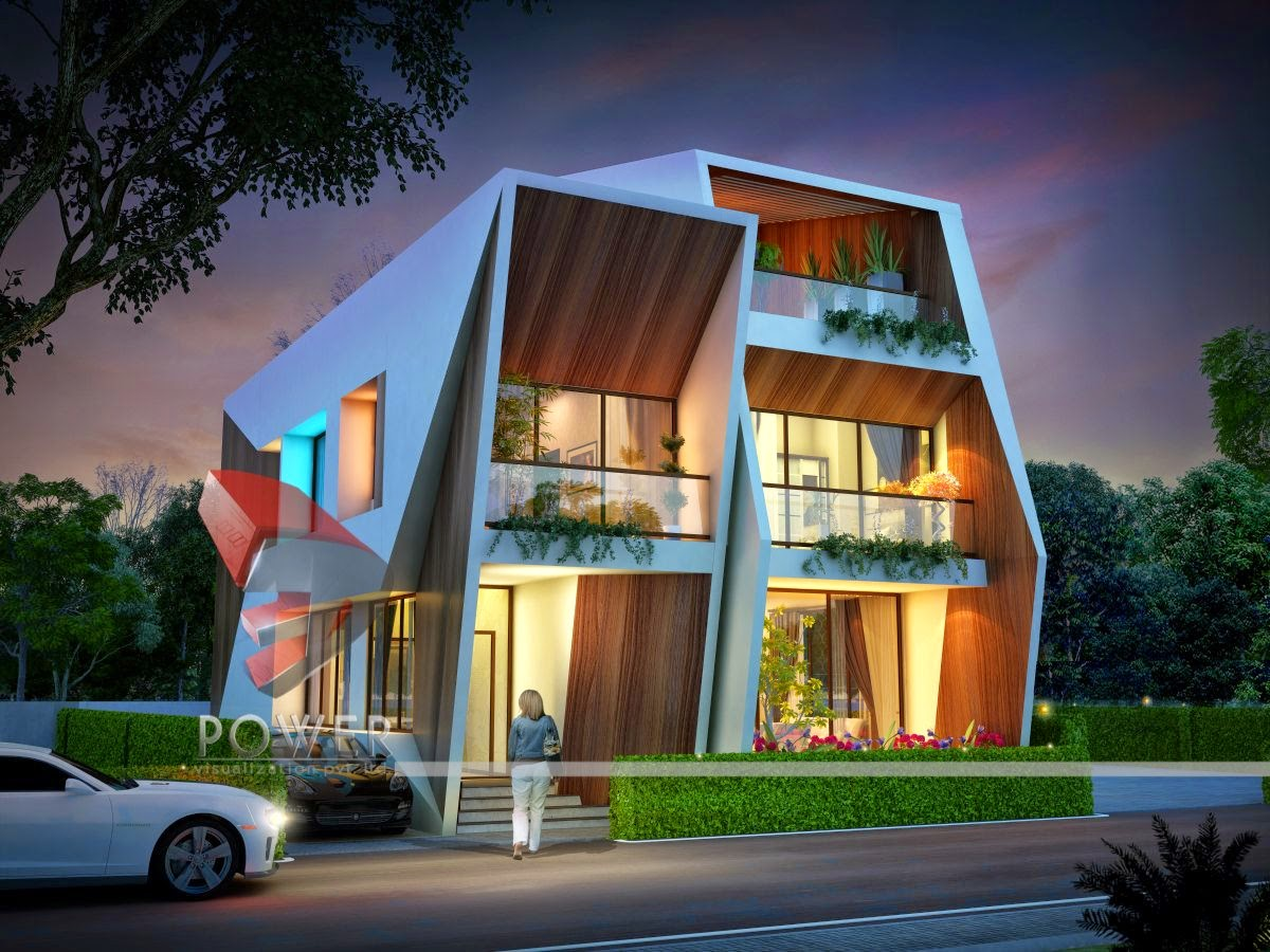3d contemporary bungalow of township 3d architectural designs