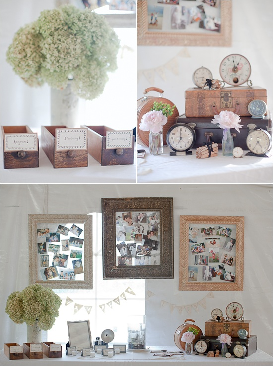The Attic A Vintage Rental Company Guest Book Table