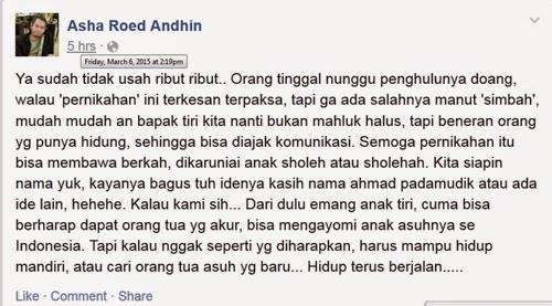 Status Asha Roed Andhin