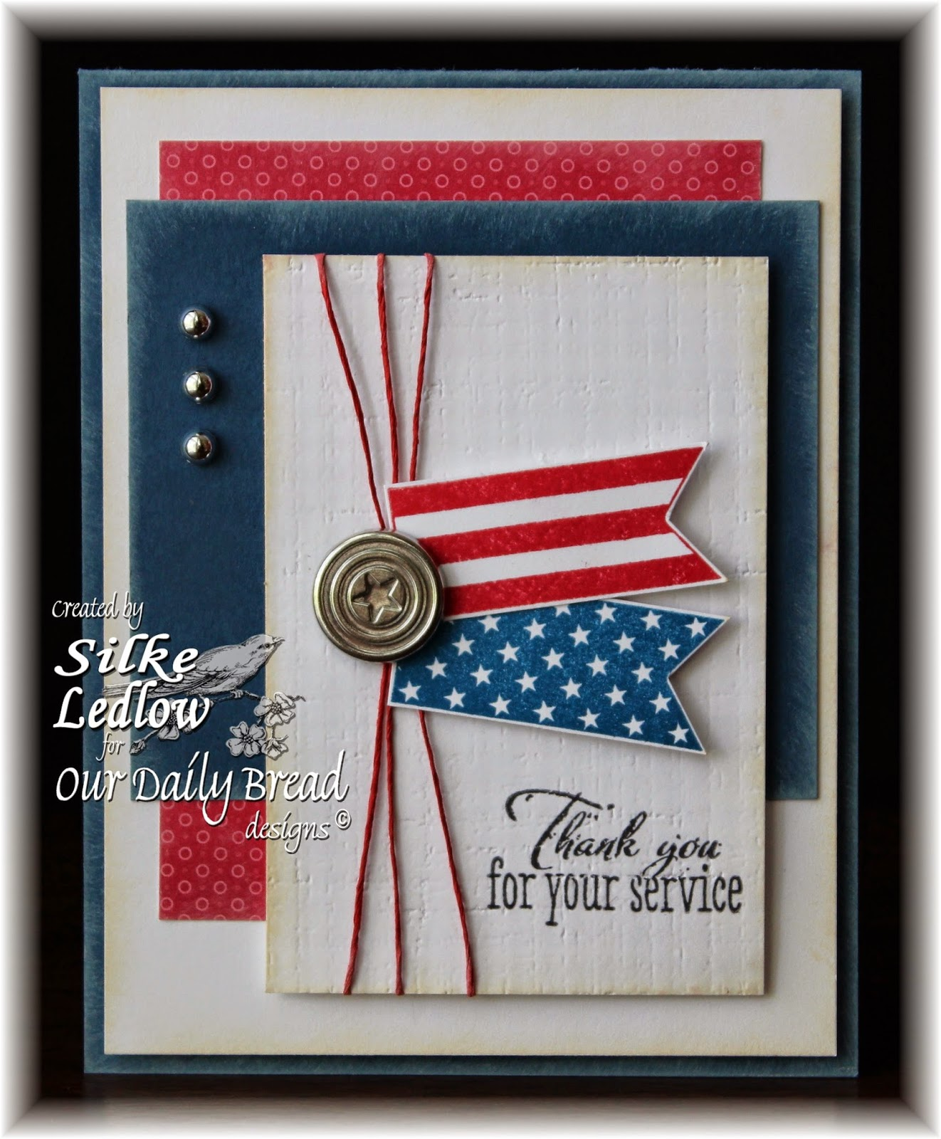 Stamps - Our Daily Bread Designs Patriotic Pennants, ODBD Pennant Row Die