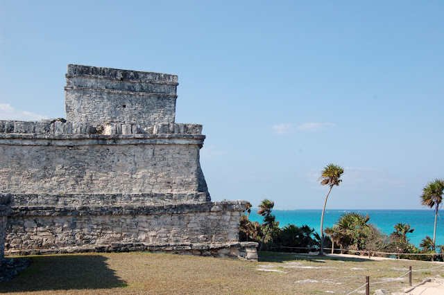 The Back of the Ancient Temple of the Descending God Overlooking the Caribbean