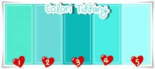 cucina color tiffany : ... Scribbles: Mini tabella colori Tiffany...non si smette mai di imparare