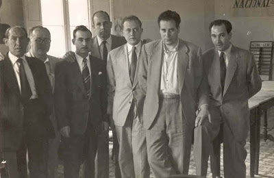 Ajedrecistas participantes en el I Torneo Nacional de Ajedrez de La Pobla de Lillet 1955